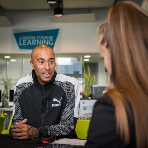 Interviewing Colin Jackson